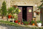 Old entrance door of Tuscany, Italy — Stock Photo