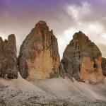 """Tre Cime di Lavaredo """" Drei Zinnen """" - Dolomite - Italy, Europe — Stock Photo"""