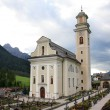 "Church and cemetery of the Sesto ""sexten"" - Italian Dolomite — Stock Photo"