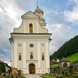 "Church and cemetery of the Sesto ""sexten"" - Italian Dolomite 2 — Stock Photo"