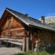 Alpine hut - Dolomites — Stock Photo