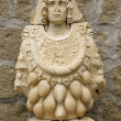 Stock Photo: Goddess of abundance, Romanesque Art - Viterbo, Italy