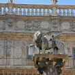 Stock Photo: VeronItaly piazzdelle Erbe lion of saint Mark symbol of