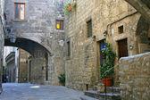 San Pellegrino - Medieval district - Viterbo - Italy — Stock Photo