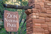 Banner of the Zion National Park in Utah, USA — Stock Photo