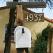 White mailboxes in Tucson. USA. — Foto Stock