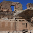The ruins of the Baths of Caracalla in Rome, Italy - Stock Photo