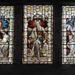 Stained Glass Window, in a former church in Edinburgh. — Stock Photo