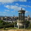 View on Edinburgh skyline with Edinburgh Castle and Scotts Monument from Calton Hill, Scotland — Stock Photo