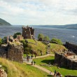 Stock Photo: Urquhart Castle beside Loch Ness in Scotland, UK.