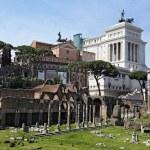 Постер, плакат: Ancient Ruins of Imperial Forum in Rome via dei Fori Imperiali