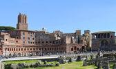 Ruines antiques du forum impérial à rome, via dei fori imperiali — Photo