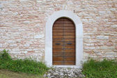 An image of an old door in Altino, Ascoli Piceno - Italy — Stock Photo