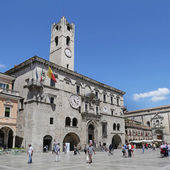 "ASCOLI PICENO, ITALY - JUNE 02, 2014: The Palazzo dei Capitani del Popolo (""Palace of the People's Captains""). Built in the 13th century — Stock Photo"