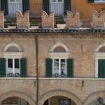 Ascoli Piceno (Marches, Italy) - Ancient building in the main square — Stock Photo #48713163