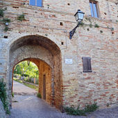 Castle of the old town of Grottamare, Ascoli Piceno — Stock Photo