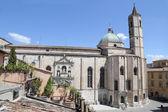 The Gothic-style church of San Francesco - Ascoli Piceno — Stock Photo