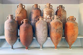 A group of Amphora recovered from the sea in Tuscany — 图库照片