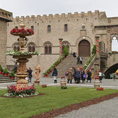"Exhibition ""San Pellegrino in Fiore in Viterbo."" The event in San Pellegrino in Fiore sees the historic city of Viterbo — Stockfoto"