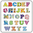 Stock Vector: colorful alphabet