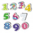 Colorful numbers — Stock Vector