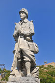 Statue of a WWI soldier — Stock Photo