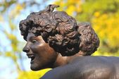 Particular of a fountain in Central Park — Stock Photo