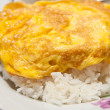 Tasty Omelet and rice,Thai menu - Stok fotoğraf