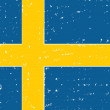 Sweden grunge flag — Stock Photo