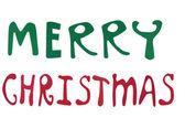 Merry Christmas words — Stock Photo