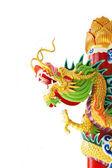 Dragão chinês dourado — Foto Stock