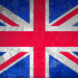 Icon recycle symbol on grunge United Kingdom or British or England flag — Stock Photo