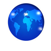 Blue earth map — Stock Photo