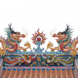 Glance of the Dragon on Thai temple roof — Stock Photo #12820887