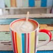 Stripe coffee cup — Stockfoto