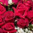 Red rose bouquet close up background — Stock Photo