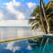 Stock Photo: Swimming pool in luxury resort by the sea,Samui,Thailand