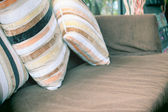 Pillows and sofa — Stock Photo