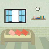 Living room, illustration — Stock Photo