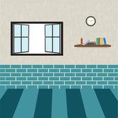 客厅里的插图 — 图库照片