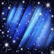 Stock Photo: Stars burst on motion blue