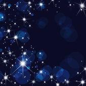 Stars burst on motion blue — Stock Photo