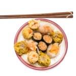 Steamed shrimp gyoza and dimsum — Stock Photo #26968685