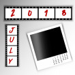 2013 Calendar July — Stock Photo