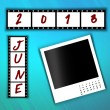 2013 Calendar June — Stock Photo