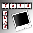 2013 Calendar June — Stock Photo #27139315