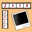 2013 Calendar July — Stock Photo #27139337