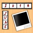 2013 Calendar June — Stock Photo #27139369
