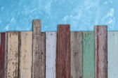 Blue cement wall background — Photo
