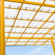 White roof and yellow cradle — Stock Photo